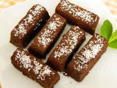 brownies de algarroba